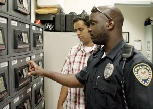 VA Police mentors student Mentee with disabilities who is interested in law enforcement